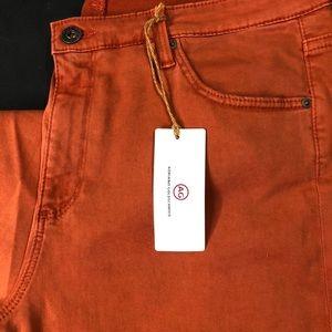 AG Cigarette Crop Jeans  Size 32 Burnt Orange